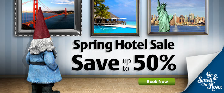 Spring Hotel Sale - Go and Smell the Roses!