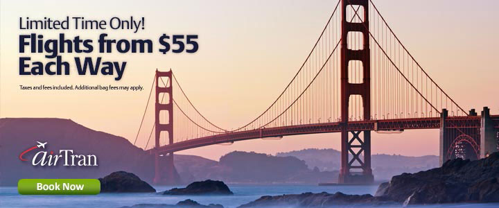 Flights on Sale from $55 Each Way